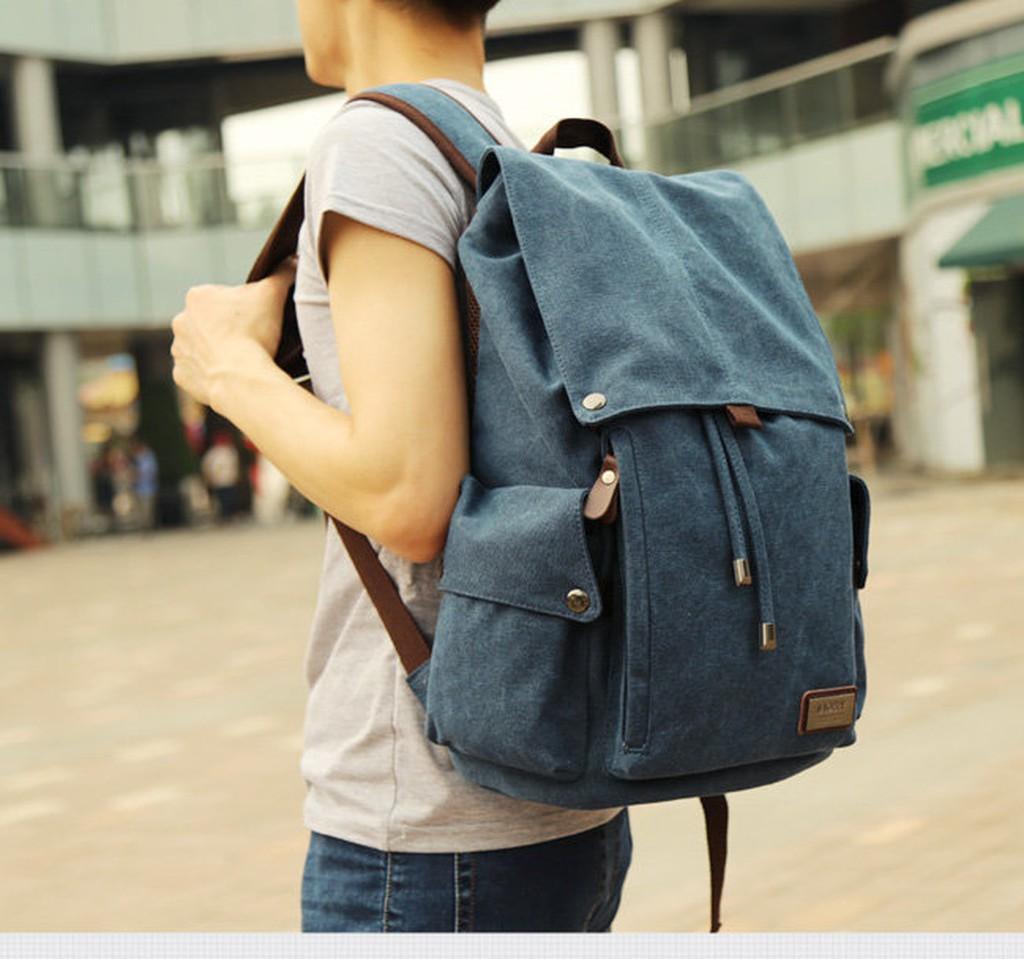 後背包休閒學生書包雙肩包帆布旅行包潮流電腦包 帆布oc2468