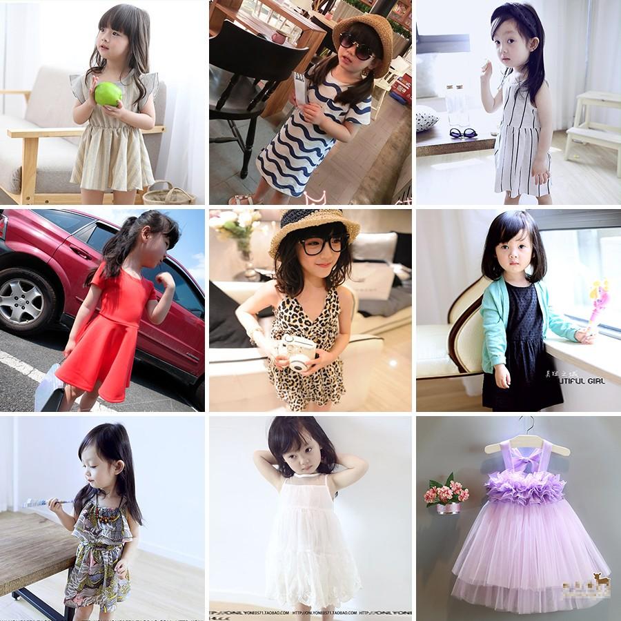 2016 夏裝 中小童女童短袖連衣裙 兒童公主裙子小女孩韓