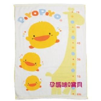 ~孕媽咪Q 寶貝~ 製黃色小鴨長方型雙層紗布浴巾附身高表810652