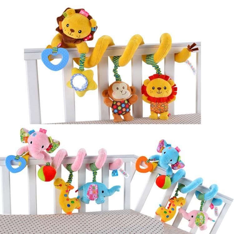 鎬媽布書布玩園Sozzy 動物獅子大象嬰兒童音樂拉震床繞車床掛帶音樂鈴BB 器牙膠搖鈴拉震