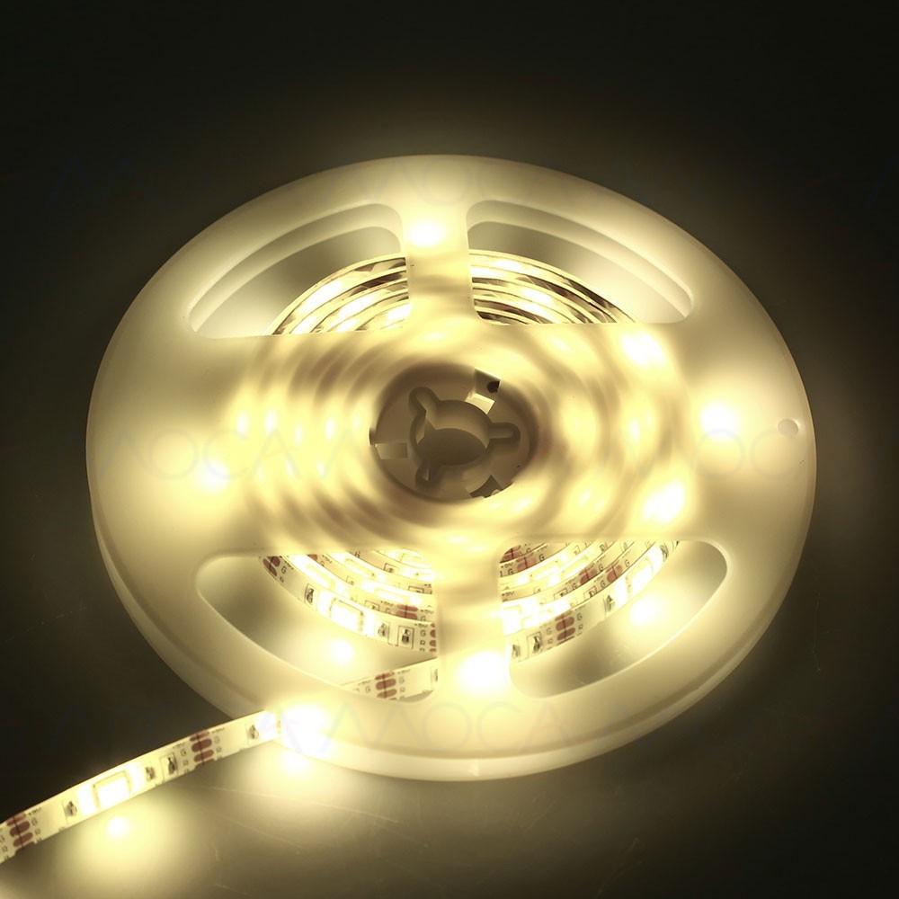 MOCA 6 顏色4 5V 2M SMD5050 LED 帶電池盒的防水條燈