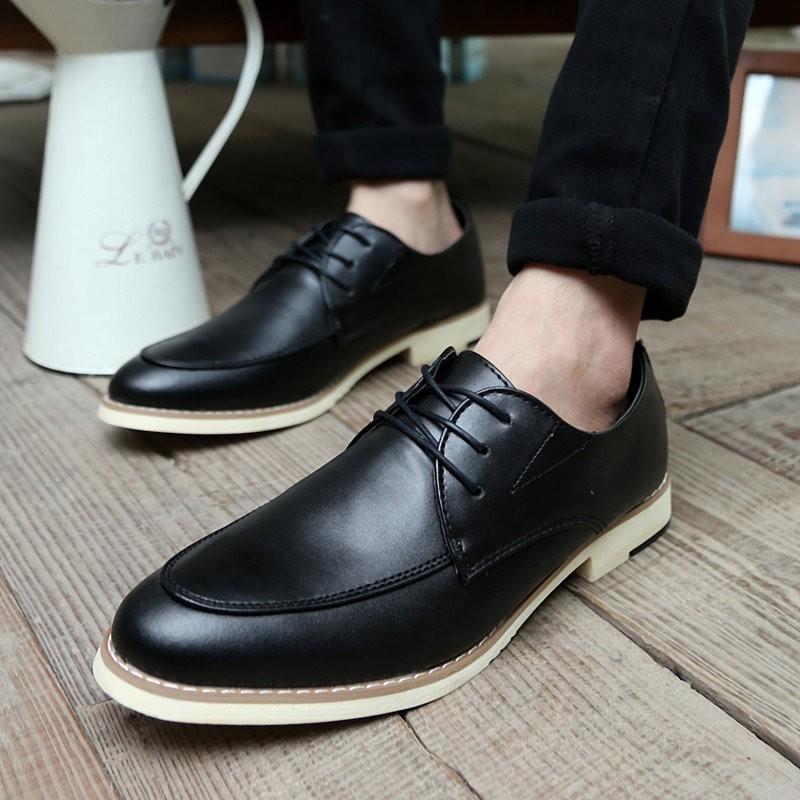 新品 商務尖頭男士 皮鞋男鞋子青春潮流林彎彎英倫潮鞋