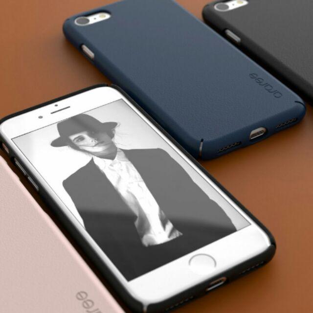 金柚正韓Araree iPhone7 i7 素色皮紋超薄PC 硬殼手機殼KY 0352