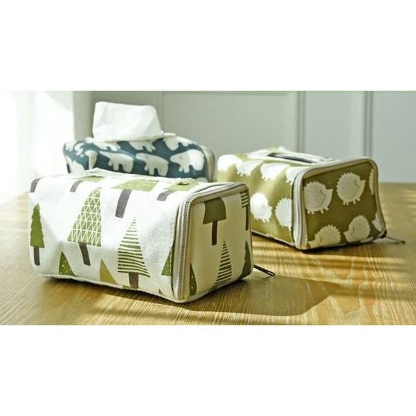 出口 ~多 棉麻紙巾盒~摺疊紙巾盒zakka 雜貨衛生紙收納袋旅行便攜紙巾盒