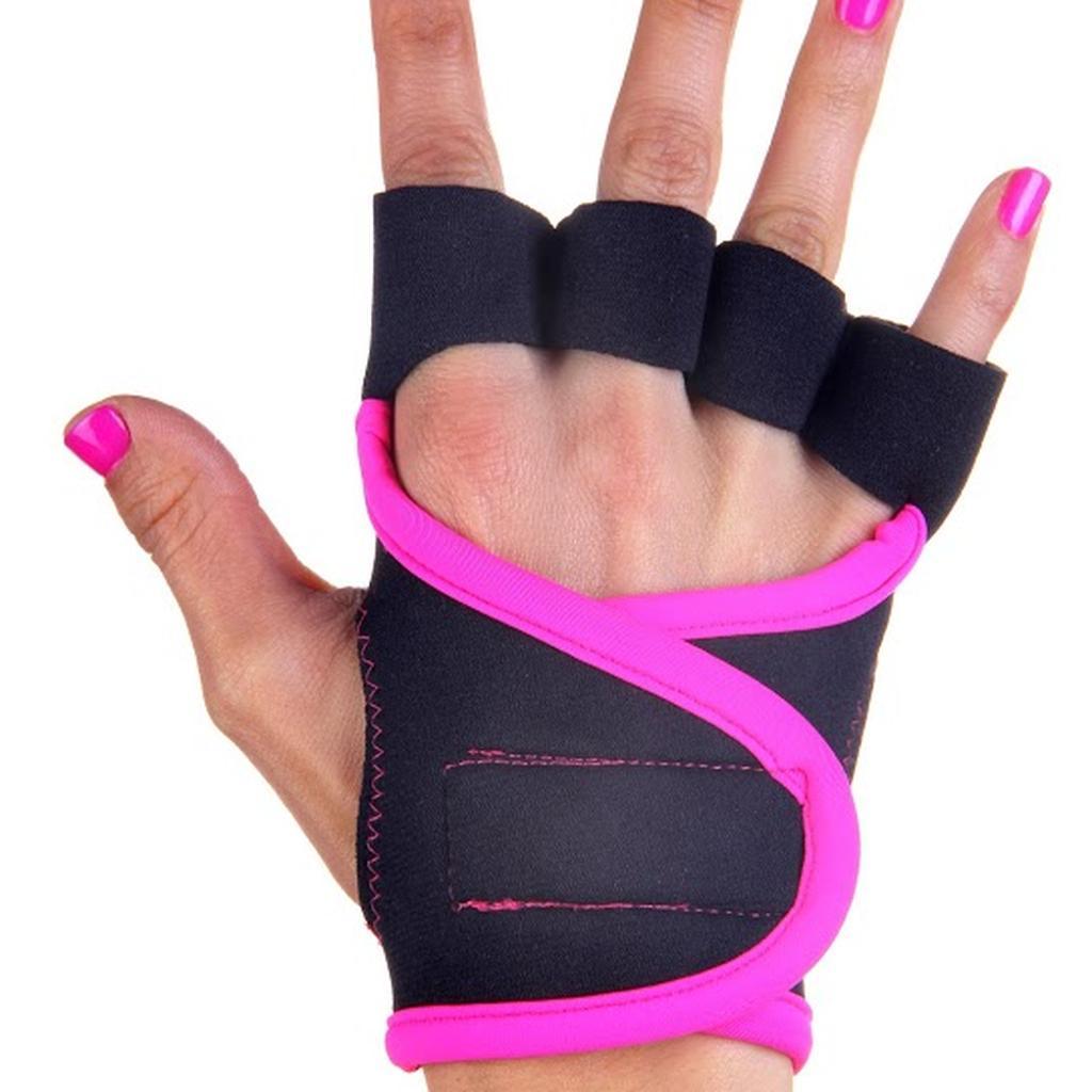 G LOVES ~美國 健身品牌~健身重訓 手套黑粉紅滾邊