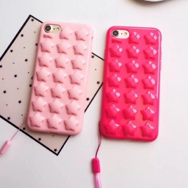 ( 最 立體星星氣囊泡泡防摔氣墊全包軟殼附掛繩iPhone 手機殼iphone7 ipho