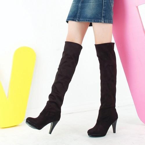 ~復古長靴 ~ 過膝靴女彈力長靴細跟高跟單靴 百搭長靴多穿騎士靴防水臺長靴過膝靴靴子 取貨
