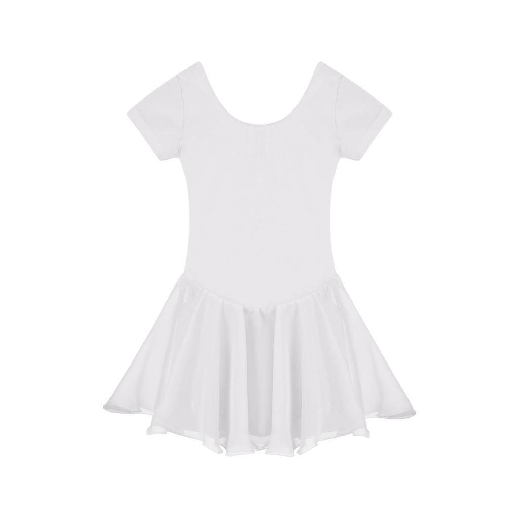 兒童舞蹈服裝練功服女童 芭蕾舞裙短袖小孩跳舞衣服棉