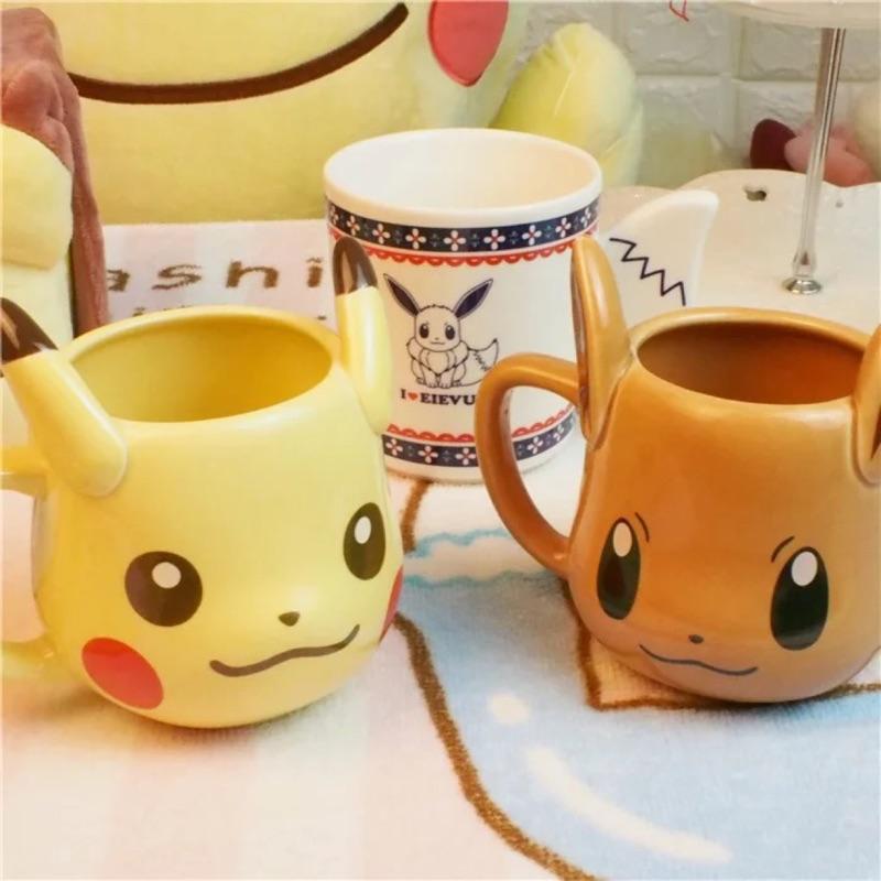pokemon life 神奇寶貝口袋妖怪寵物小精靈皮卡丘立體陶瓷水杯筆筒盆栽置物