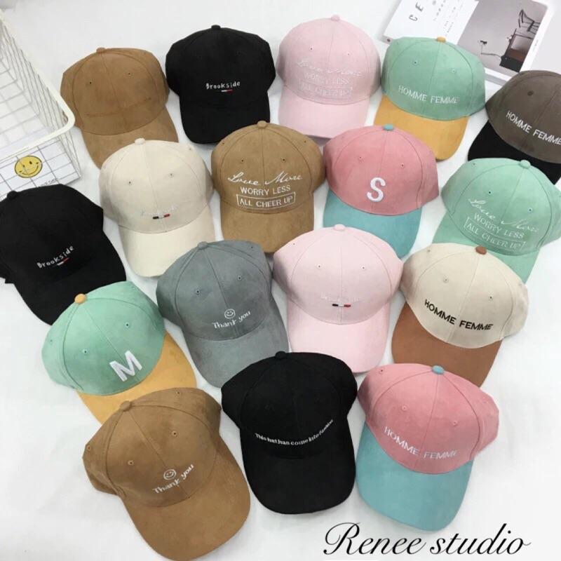 韓風日系ulzzang 麂皮絨字母刺繡棒球帽鴨舌帽老帽休閒遮陽帽