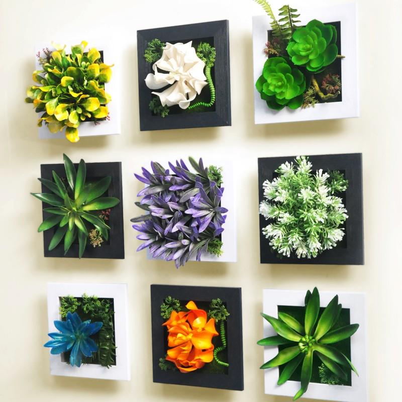 ❤ 145 ❤主婦最愛立體牆飾掛飾 家居牆上裝飾品挂件仿真植物客廳牆面壁掛壁飾