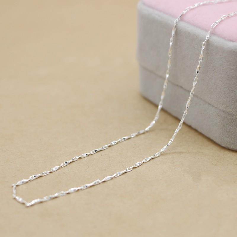 S925 純銀鏈子女吊墜 女士復古元寶鏈瓜花片鏈配鏈鎖骨項配飾