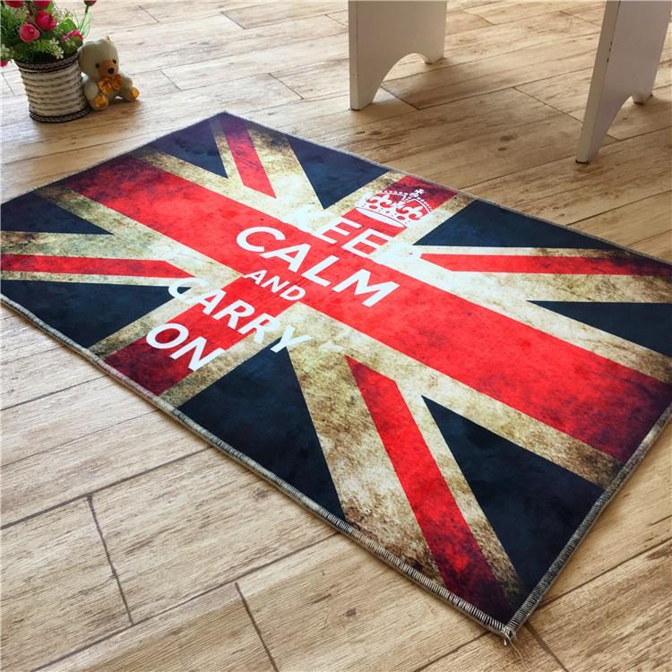 英倫復古做舊米字旗潮流地毯客廳茶几臥室門廳 i 門墊腳墊子