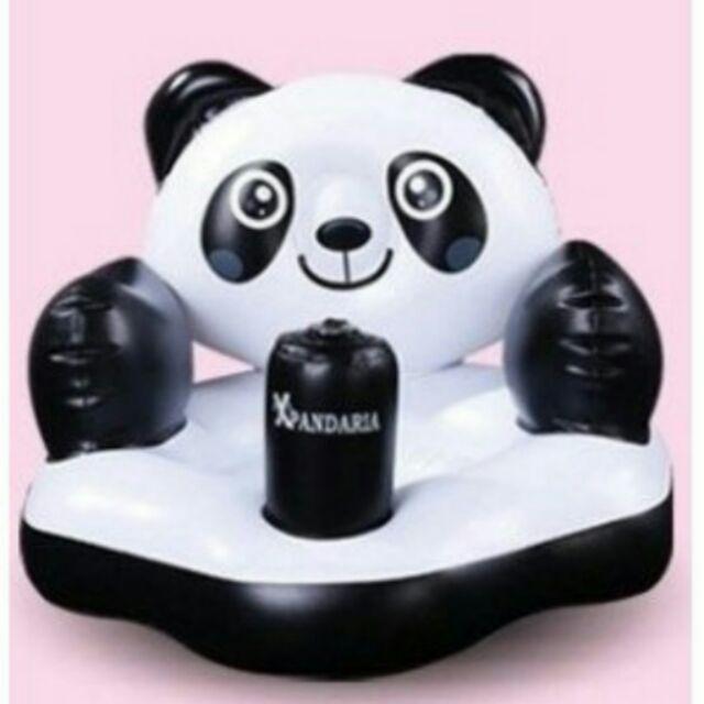 熊貓 幼兒充氣小沙發輔助椅浴椅加高護頸加寬加厚幫寶
