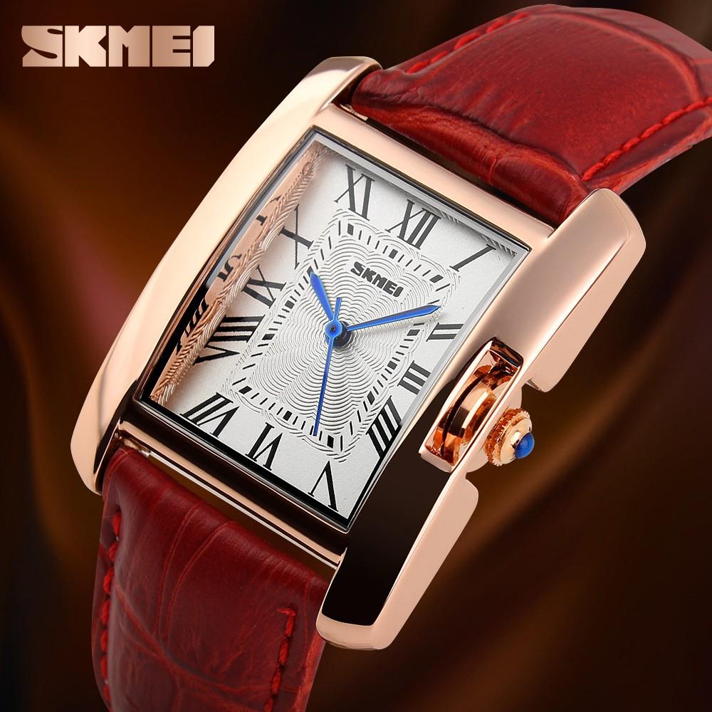 SKMEI 時刻美 時裝皮帶女錶潮流復古防水手錶石英表