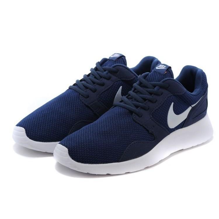 正品Nike Roshe Run Kaishi 2015 網面透氣慢跑鞋情侶鞋深藍白