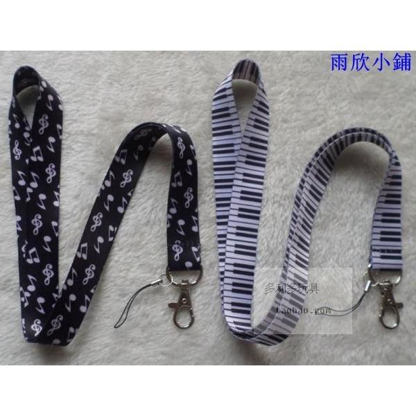 元素音樂鋼琴符號Logo 吊繩手機胸卡雙面長款手機掛繩