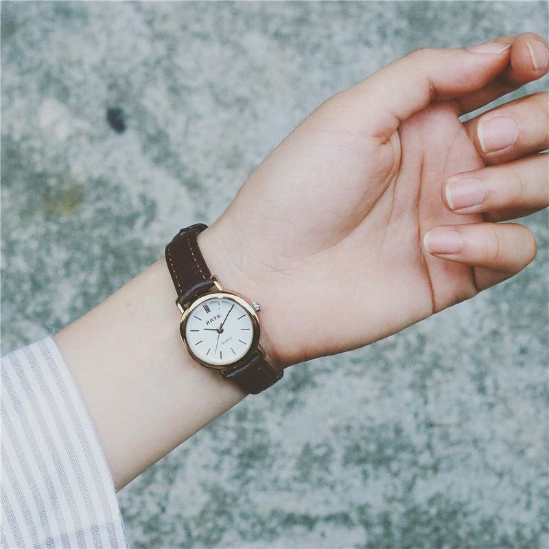手錶復古小錶盤真皮帶男生學生女生防水 簡約休閒情侶小巧潮流