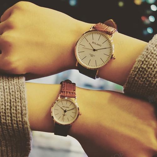 簡約復古手錶情侶男錶對錶女錶W122