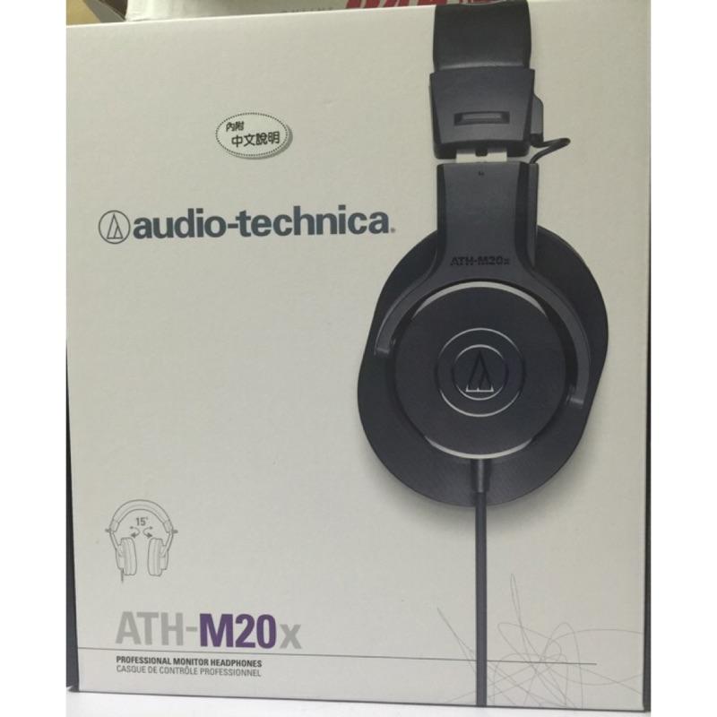 鐵三角 貨☀️ATH M20x 高音質錄音室用 型監聽耳機