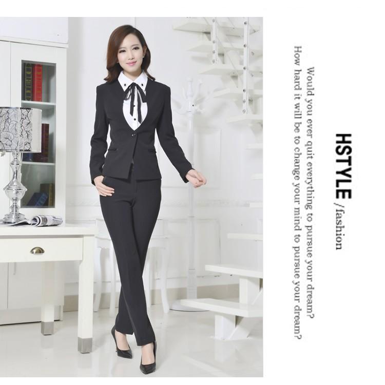 黑灰兩色女職場套裝女西裝套裝西裝外套S 4XL