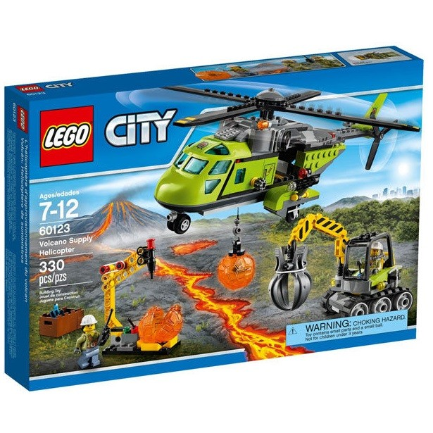 玩具之箱LEGO 樂高積木60123 CITY 城市系列火山載運直升機 未拆