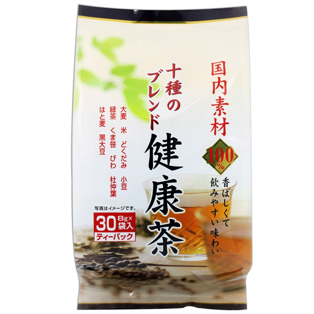 爆買  山城物產十全健康茶綜合麥茶十種類混合茶240g 8gX30 袋茶包