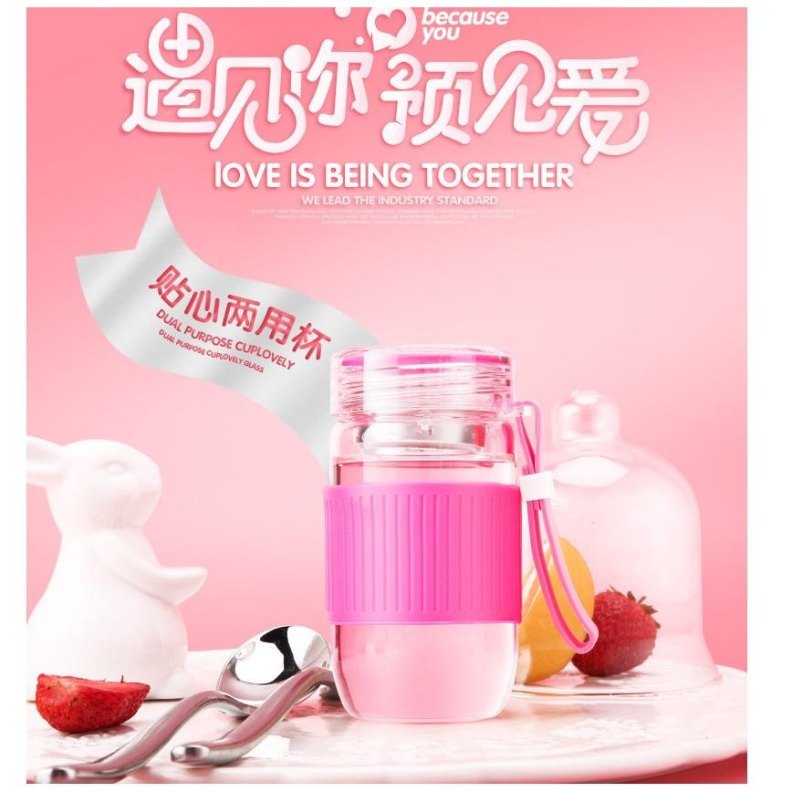 ~可愛便攜式玻璃瓶杯~韓國 杯梅森瓶星空瓶玻璃杯果汁杯復古水果杯牛奶瓶星巴克甜點杯隨手杯