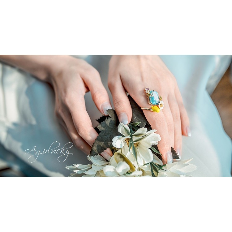 法國 Les Nereides 蕾海娜 師品牌 鳥兒系列立體耳環項鍊戒指