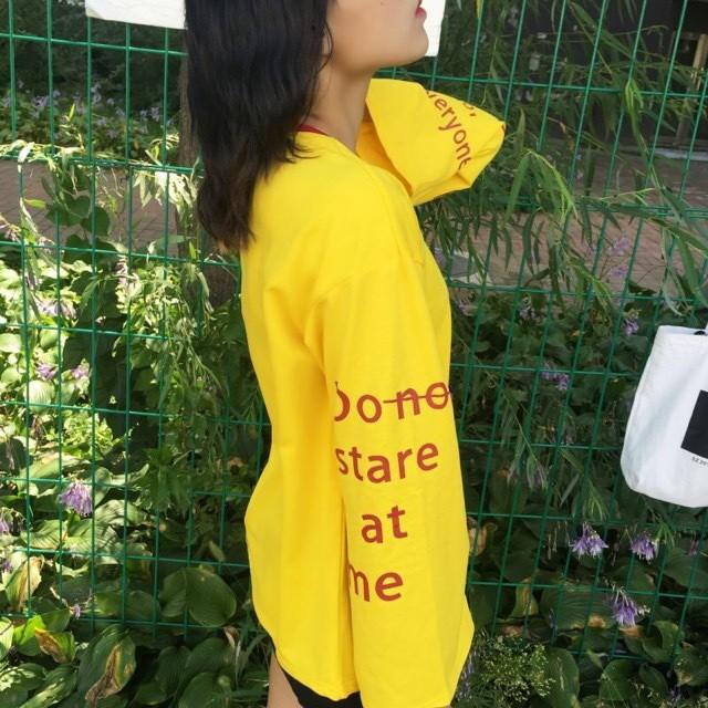 秋裝韓國ulzzang 原宿喇叭袖長袖套頭衛衣薄款外套k05 10017 ag 2