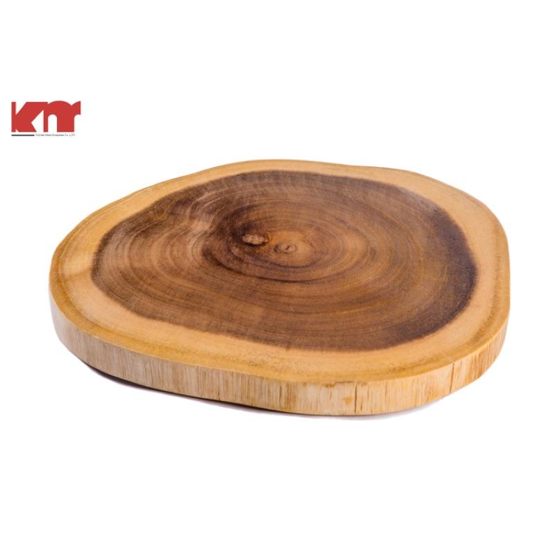 5 折有 廚美KMKM3004 外銷 ~30 5cm 相思木圓砧板麵包板野餐露營餐具非橄欖