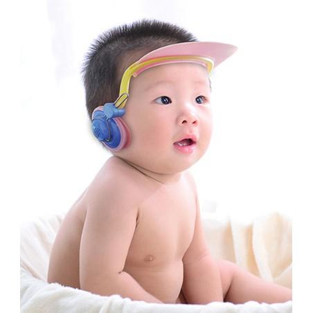 愛衣小鋪嬰兒童洗頭帽寶寶防水護耳罩小孩洗發神器幼兒洗澡浴帽加大可調節
