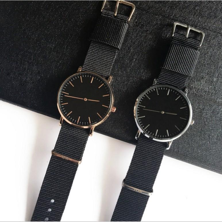 簡約 DW 休閒男女手錶帆布尼龍學生表情侶表超薄商務皮帶腕錶