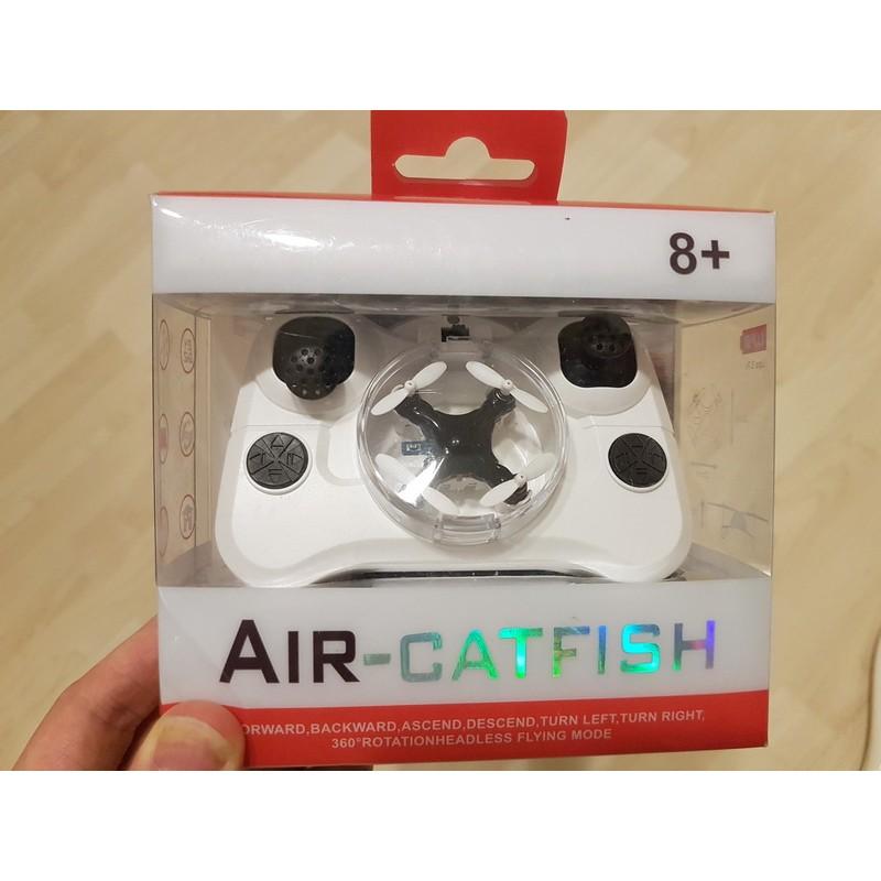 Air catfish 迷你遙控飛機僅硬幣大小手柄操控 模式無頭360 °翻轉黑色, 80