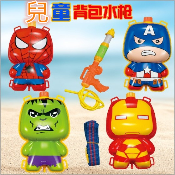 ~髮品聯盟~兒童背包式水槍組超強水槍兒童戲水親子遊戲沙灘戲水消防 玩具水槍包水槍背包 生日