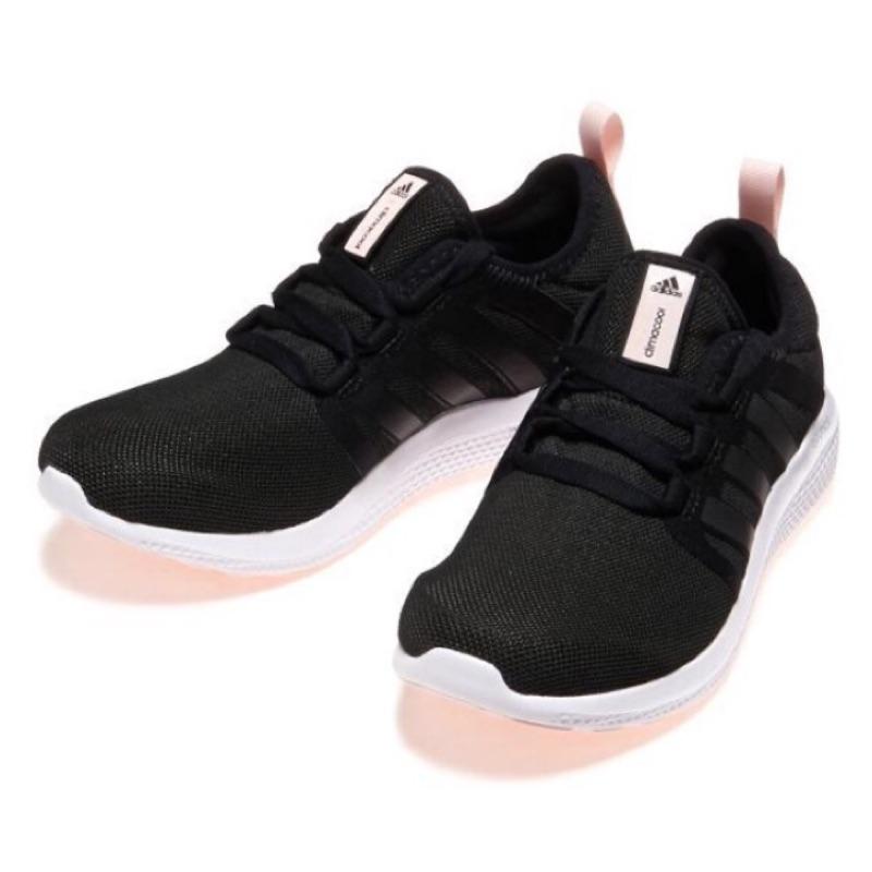 Adidas Climacool Fresh Bounce W 黑白粉紅底輕量透氣慢跑鞋S