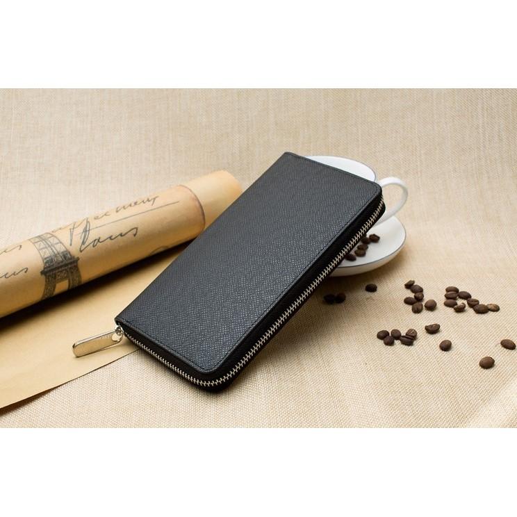 W ~056  手機錢包~長夾皮夾男士長款拉鍊錢包手拿包女士手機零錢包卡包潮