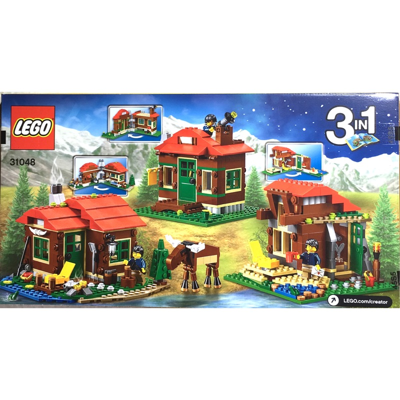 LEGO 樂高31048 CREATOR 3 合1 創作系列湖畔小屋