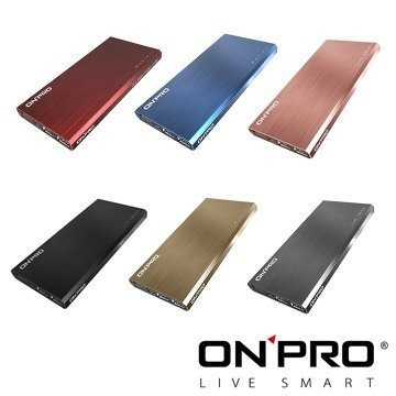 ONPRO MBONPRO MB M12 12000mAh 髮絲紋雙USB 輕薄行動電源~