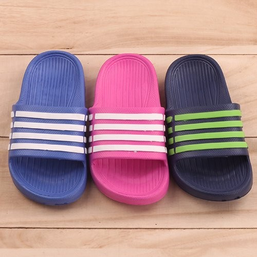 男女童超輕量防水線條 拖鞋