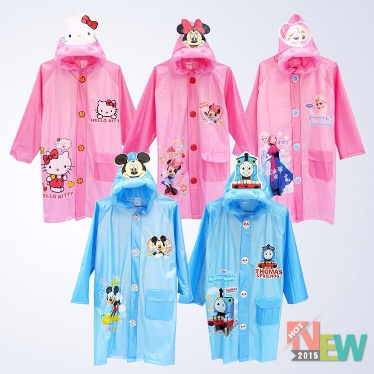 韓國兒童雨衣雨披加厚小學生幼兒園帶書包位男童女童充氣帽簷