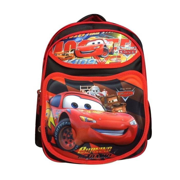 粉紅屋2016 3D 立體汽車總動員CARS 閃電麥坤1 4 年級男童卡通包兒童雙肩減負書