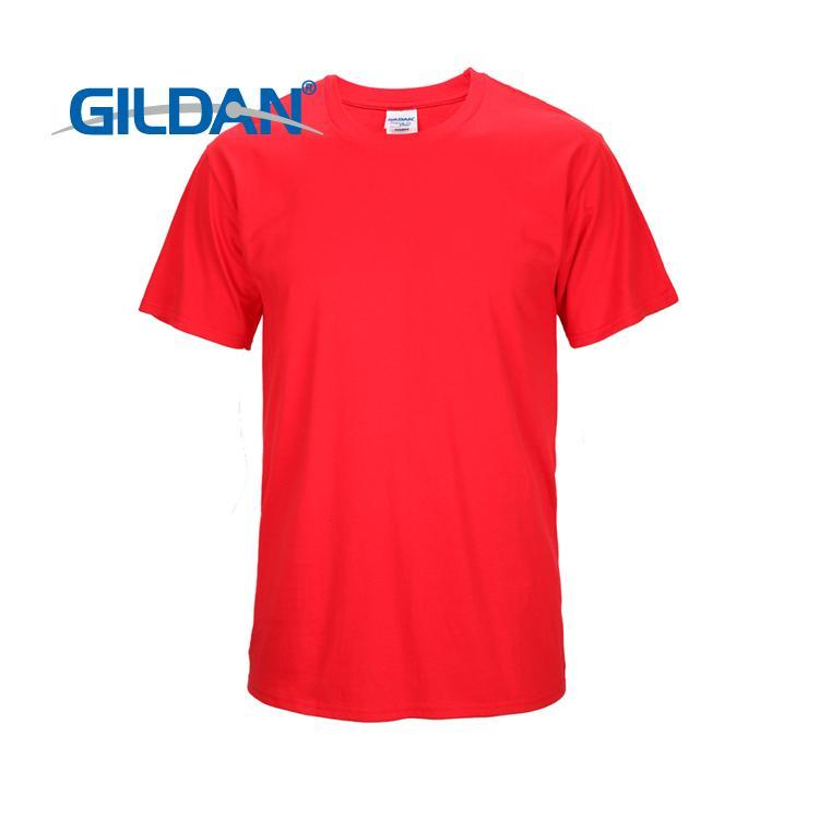 正品GILDAN 美國棉紅色76000 短袖圓領素T GAGA 家