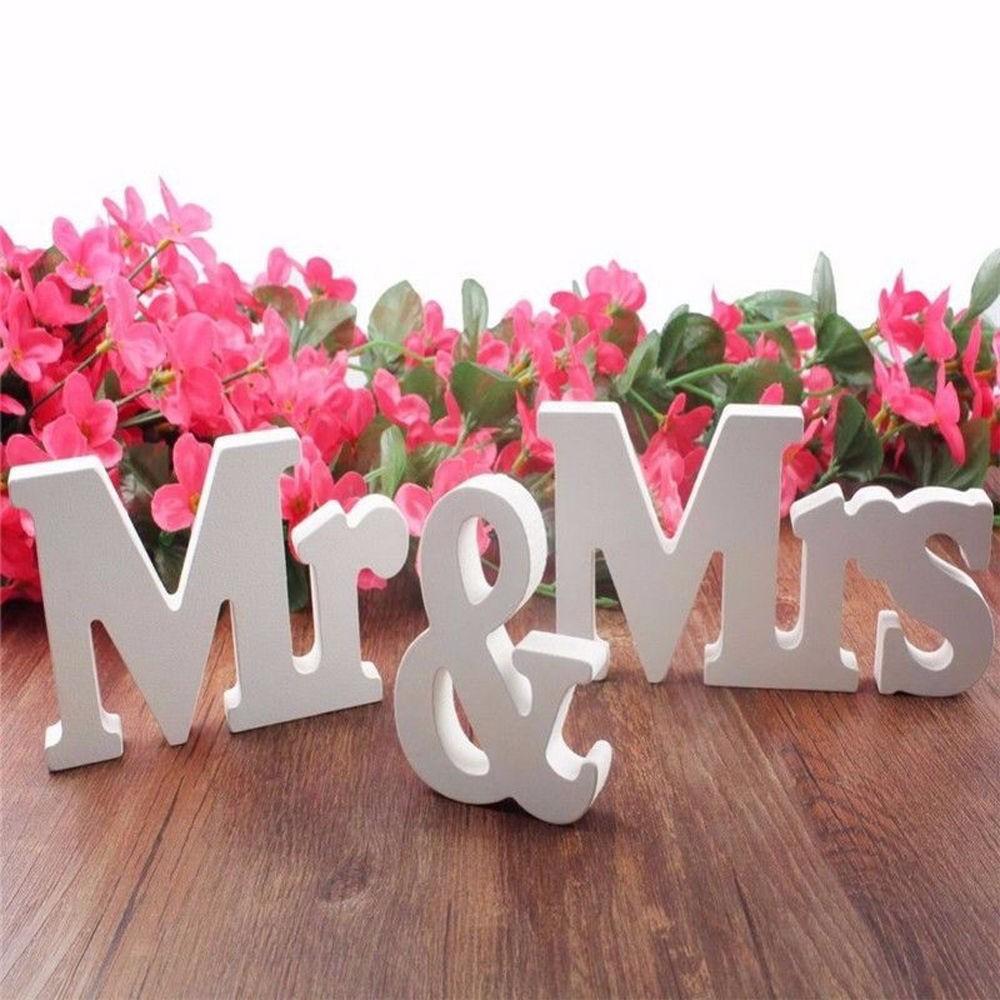 Mr Mrs 婚禮用品pvc 英文字母擺件婚禮道具