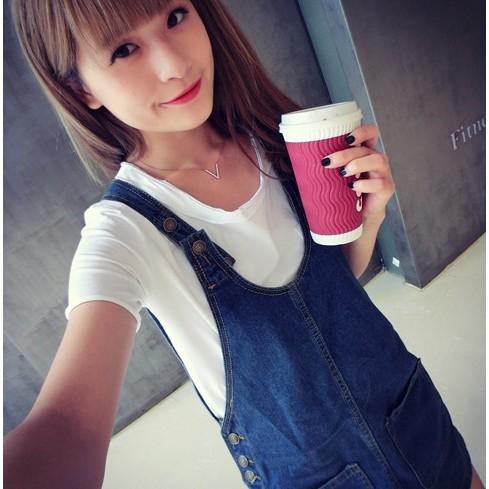 Ying Fashion ☘不買會後悔顯瘦牛仔吊帶連衣裙大碼背帶裙寬鬆吊帶裙☘