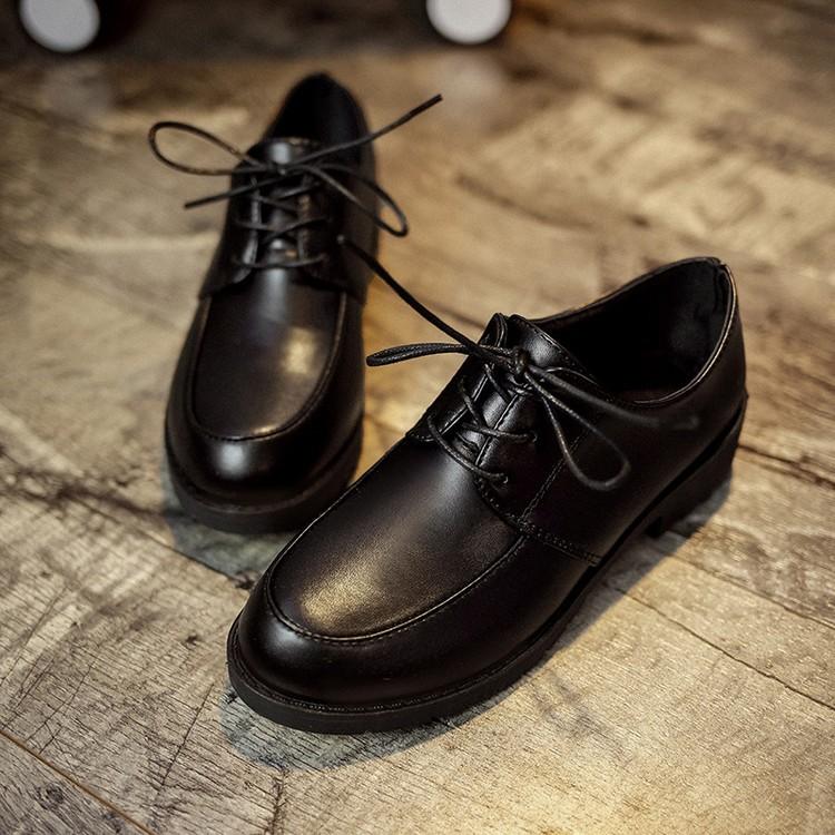 肯德基工作鞋平底軟底防滑女鞋豆豆鞋中餐廳黑皮鞋平跟媽媽鞋單鞋