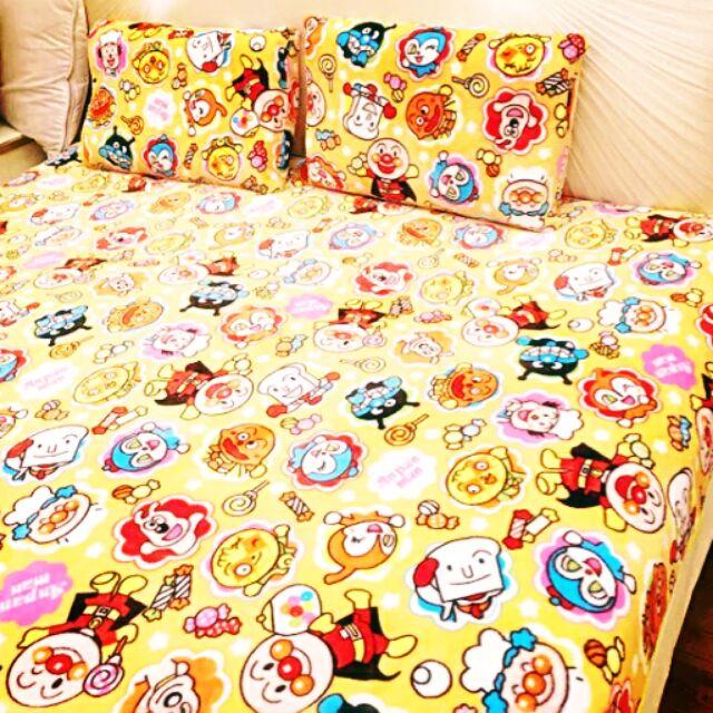 可愛卡通單人雙人法蘭絨毛毯珊瑚絨毯子空調毯枕套