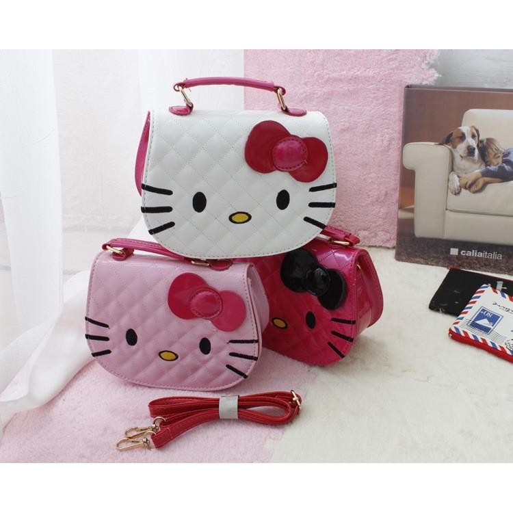 _ 的Hello Kitty 凱蒂貓卡通蝴蝶結兒童女童女孩手提單肩斜挎包