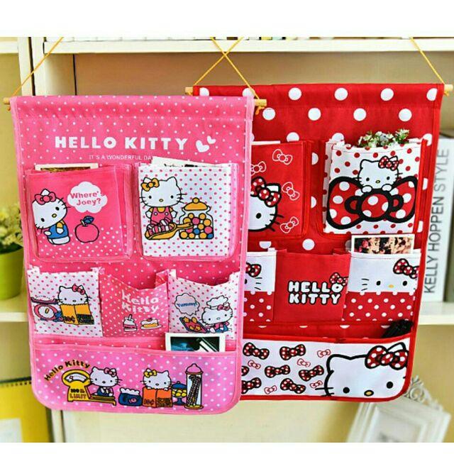 愛妮 ~Hello Kitty 可愛卡通門後牆壁掛式雜物收納袋掛袋整理袋文具鑰匙小物收納
