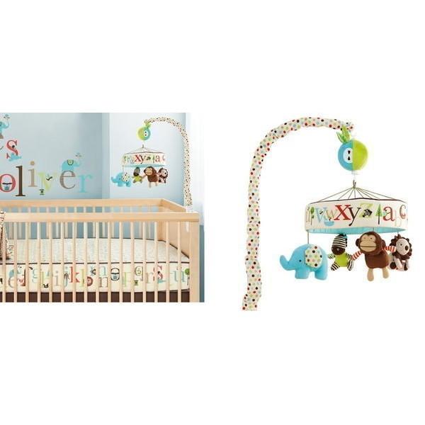 ╭~布偶寶貝~╮G06 彩盒~出口 大牌~超Q 寶寶最愛動物樂園嬰兒床鈴可加購12 首掛鈴